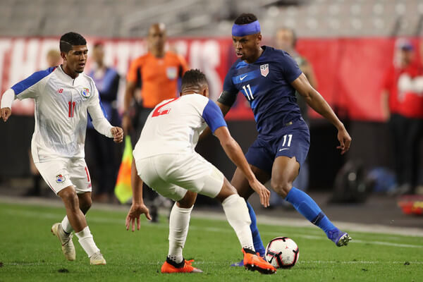 Jeremy Ebobisse #11 of United States controls the ball during the first half of the international friendly against the Panama at State Farm Stadium on January 27, 2019 in Glendale, Arizona.  (Jan. 26, 2019 - Source: Getty Images North America)