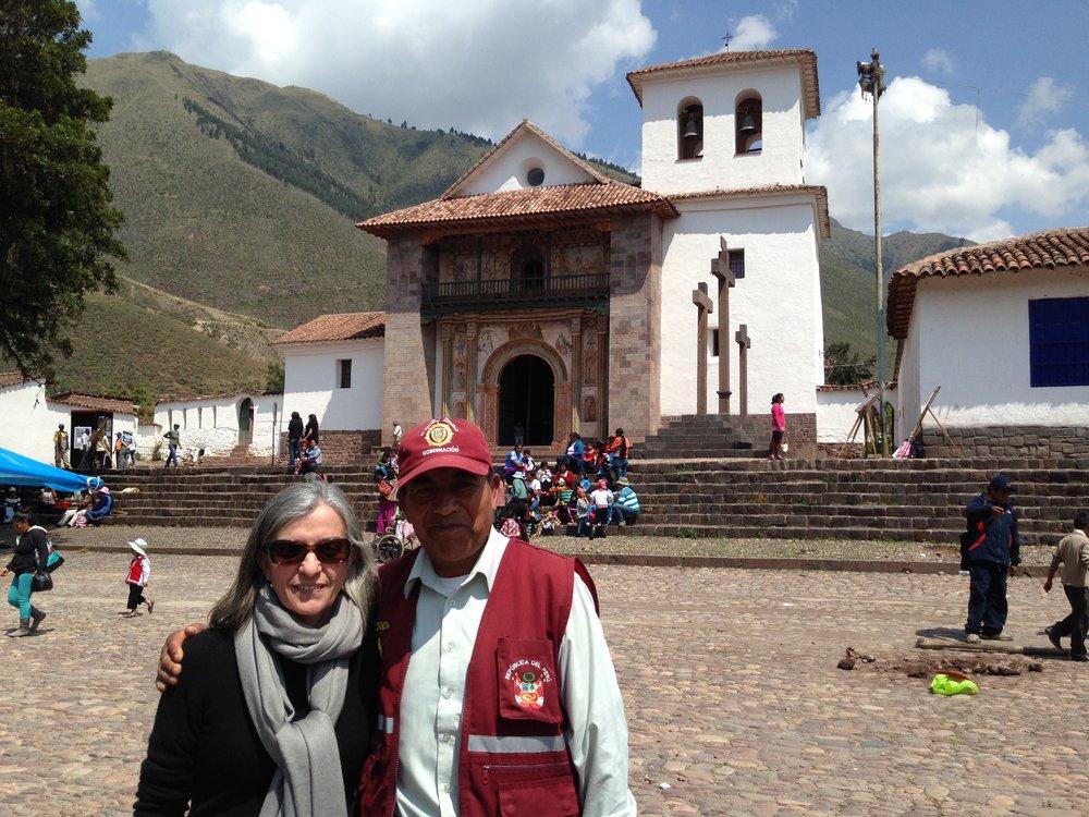 Author in Andahuaylillas, Cusco