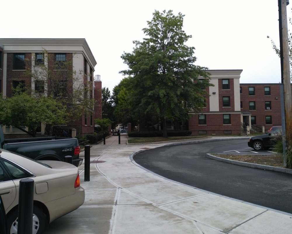 2018, The Port is home to several low-income housing projects including Washington Elms (shown above) and Newtowne Court projects