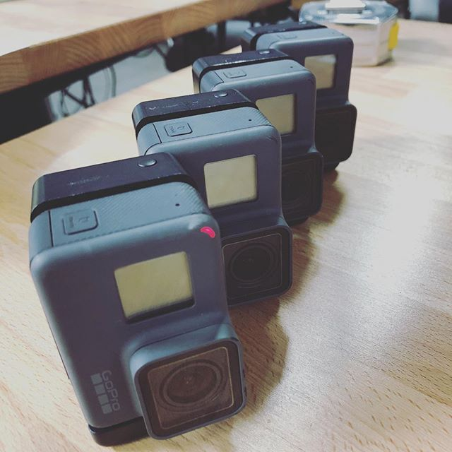 Charging up the arsenal to capture an upcoming #user #test • What are your favorite tools for capturing, observing, and synthesizing? • #prototype #test #learn #gopro #capture #discovery