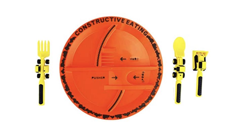 Construction Plate & Utensils for Boys