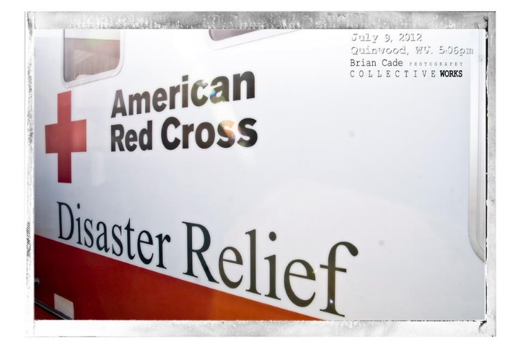 The Red Cross was a welcomed site to many of the residents of West Virginia that were effected by the storm..