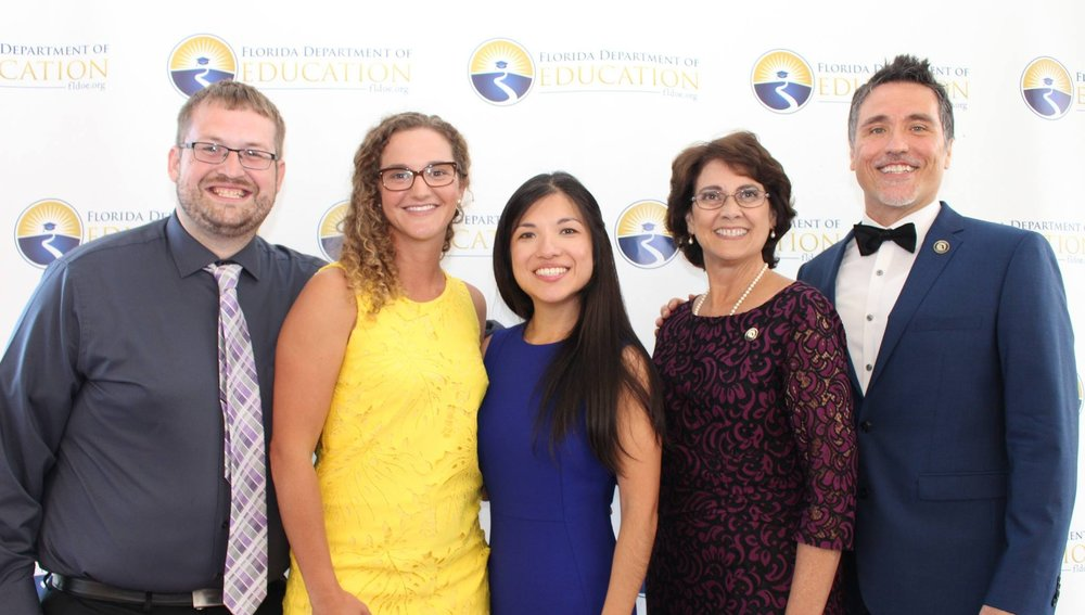 2018 Finalists: Michael Miller, Kate Fiori, Vanessa Ko, Tammy Jerkins, and Diego Fuentes