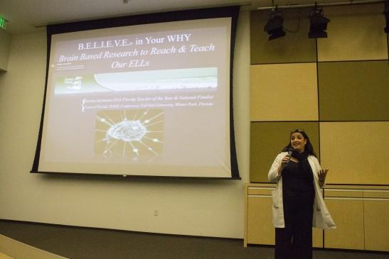 Dorina Sackman presented the keynote address at the Central Florida TESOL Mini-Conference.