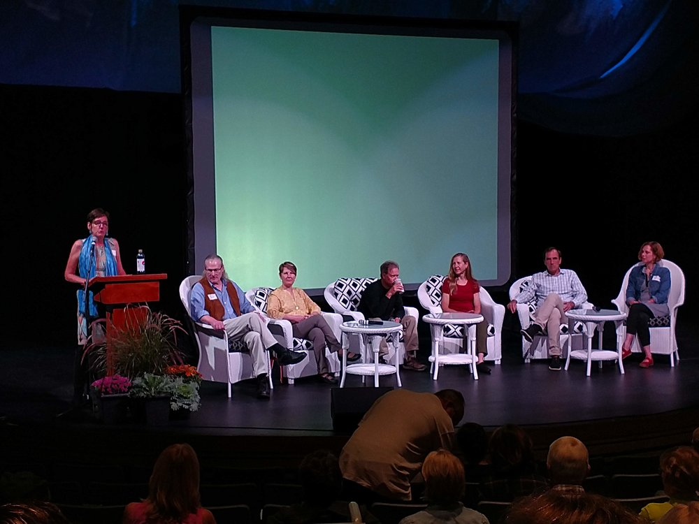 Left to Right: Libby Sachs (Moderator), Kirk Landers, Marion Boyer, Douglas Wood, Bonnie Jo Campbell, Jeff Goodell, Jean Pendizwol