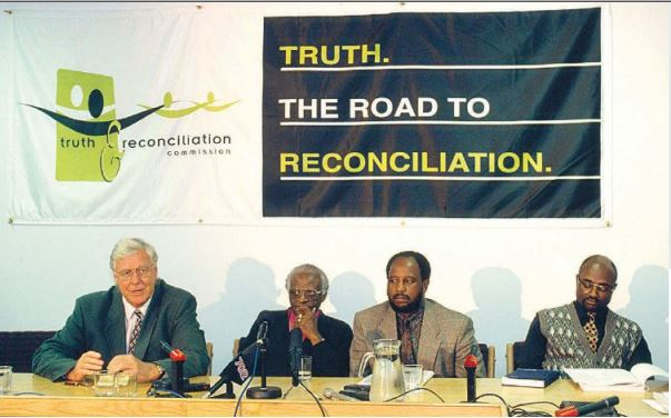 The restorative justice work of the South African Truth and Reconciliation Commission, shown here circa 1996, served as an inspiration for the founders of the USTRC.