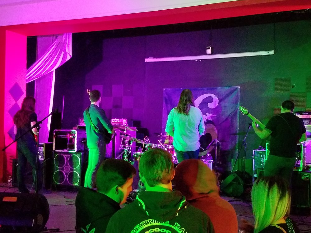 Caecus performing on December 3rd at Evolution Music.  Photo: Cherolyn Goodman.