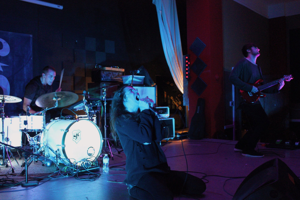 The Levitated performing on December 3rd as a part of the Things We Don't Say concert series.  Photo:  Molly Kinnunen .