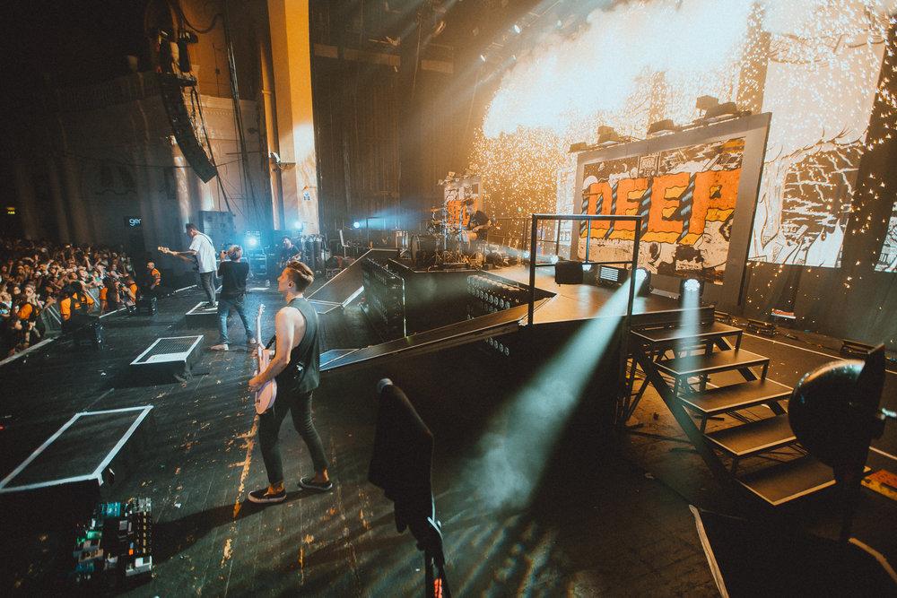 Neck Deep performing at the Brixton date of their EU/UK tour. Photo: Elliott Ingham .
