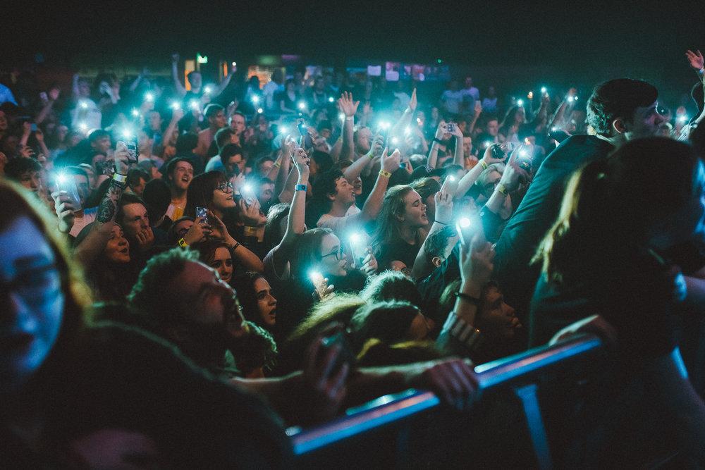 Neck Deep's crowd at the Belfast date of their EU/UK tour. Photo: Elliott Ingham .