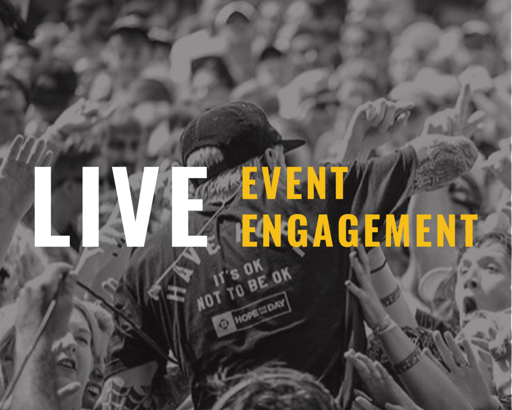 Live Event Engagement - We make this conversation visible at a wide array of public events. We have accomplished more than 1,000 live event actions directly engaging more than 1 million individuals in 49 states in America, and 26 countries around the world.