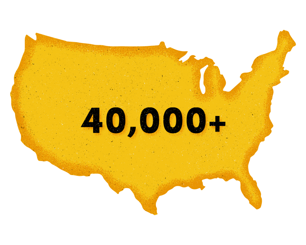 Over 40,000 completions in the US each year -