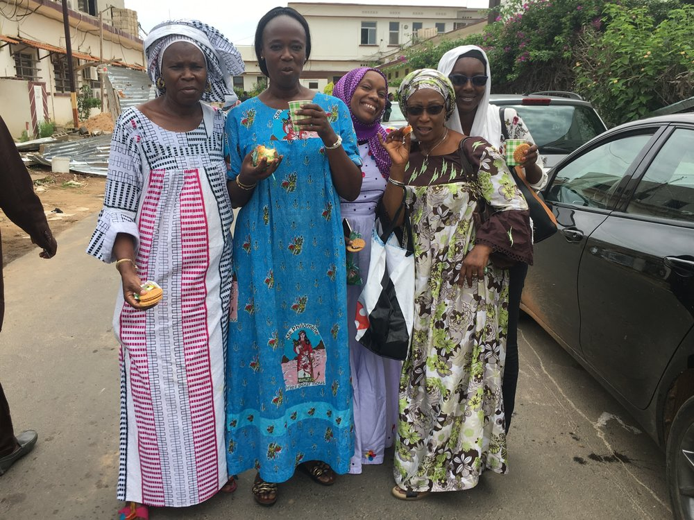 The Happiness Team just before their weekly visit to the cancer ward in Dakar. Photo: Nancy Bartosz