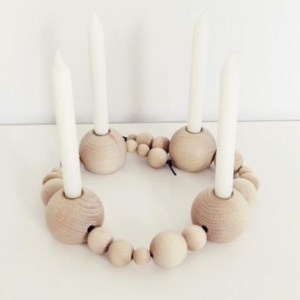 Wooden Beads Wreath