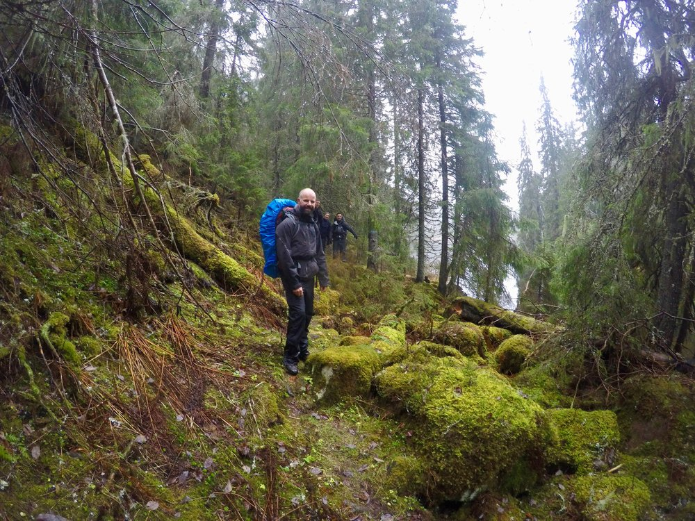 Hiking during 4-days expedition close to lake Spålen. Photo: Oslo Outdoor