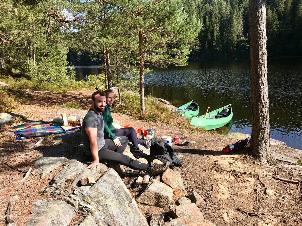 Lunchbreak inside the nature reserve (Photo: Oslo Outdoor)