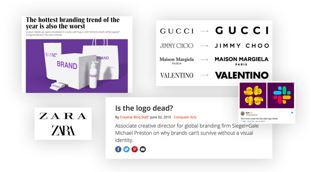 A lot of articles on the  fate  of logos and branding  appeared  in the last few months