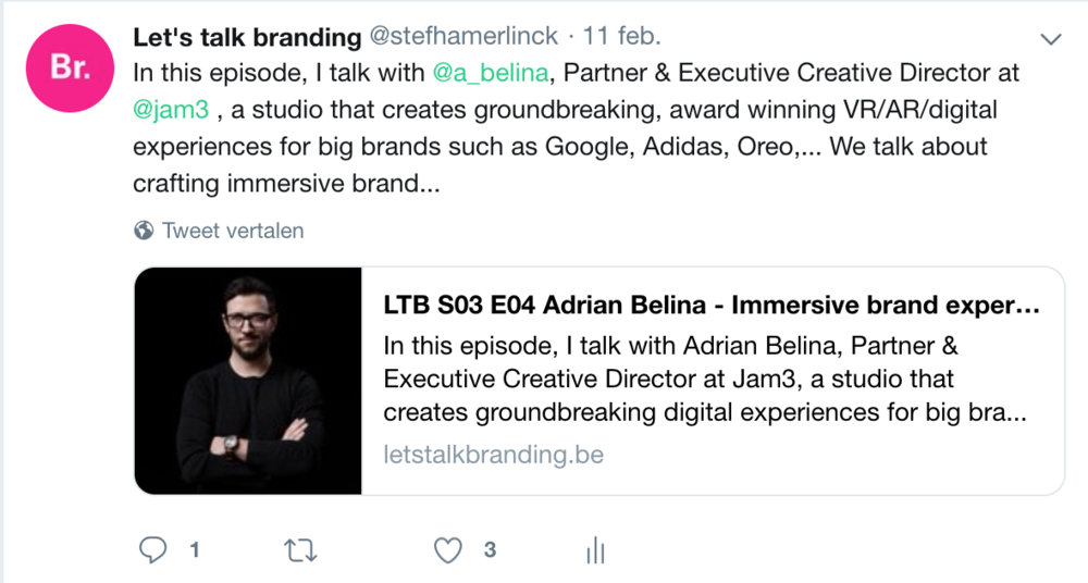 That pinkish little circle with 'br' helps people identify quickly who's is sending out the message. But it's NOT the message of course. It's also not a symbol that explains everything about the brand and what I do.