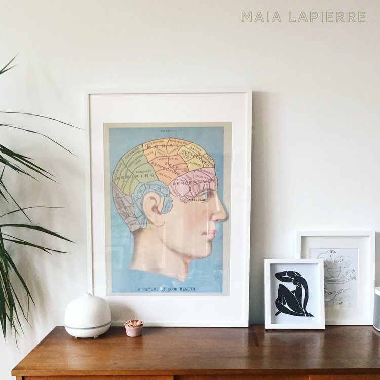 Maia LaPierre Sideboard with Leaning Art
