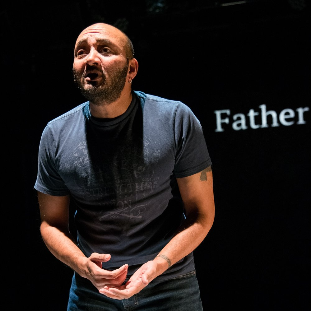 Mashuq Mushtaq Deen in DRAW THE CIRCLE at Rattlestick Platwrights Theatre - Photo by Russ Rowland
