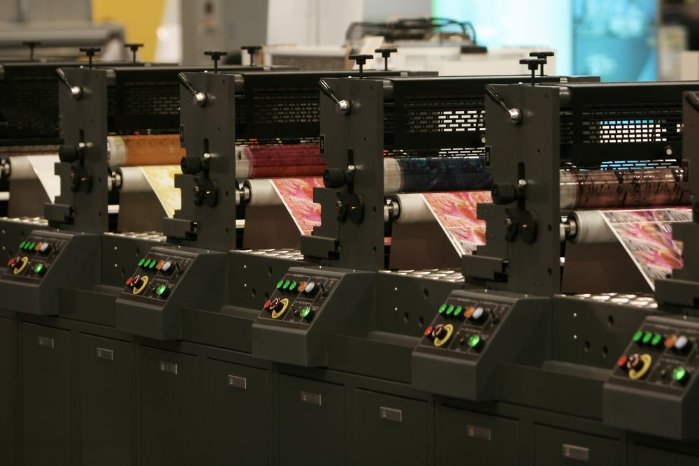 Lithographic Presses - 1 x Ryobi 755 B2 5 Colour with IR Drying 1 x Heidelberg Speedmaster CD B1