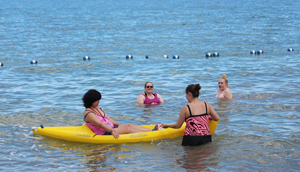 Kayaking - Campers are given the opportunity to get out on the lake and relax.