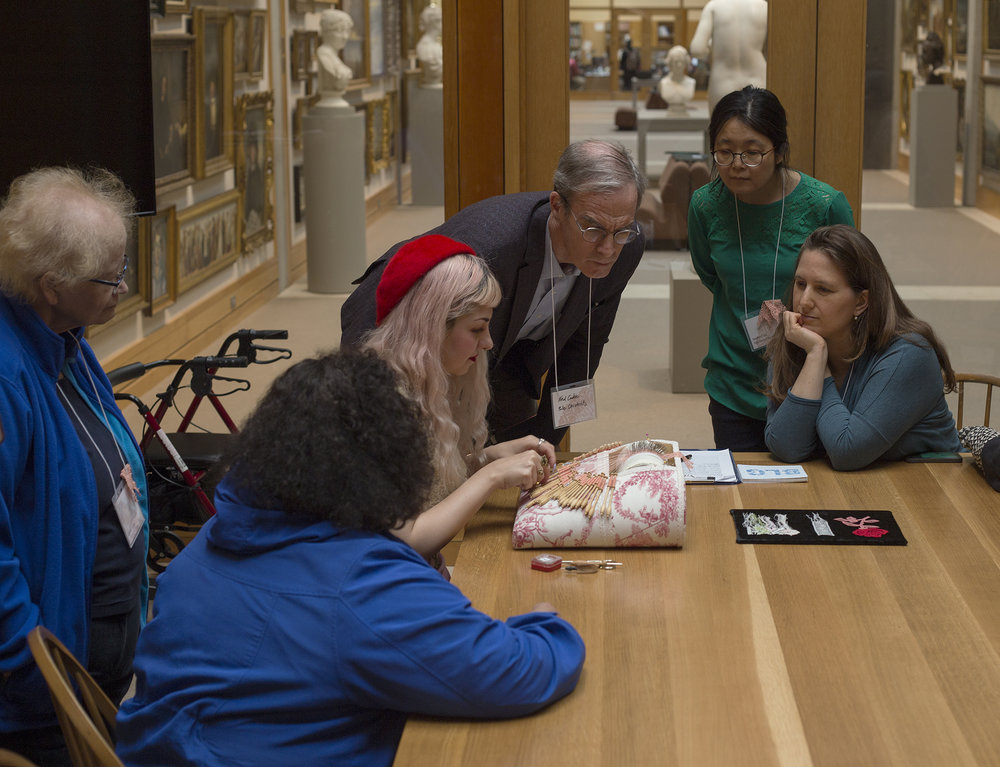 Lace Unveiled - In May 2017, Brooklyn Lace Guild was invited by the Yale Beinecke Library to participate in a full day event to study lace in conjunction with their exhibition