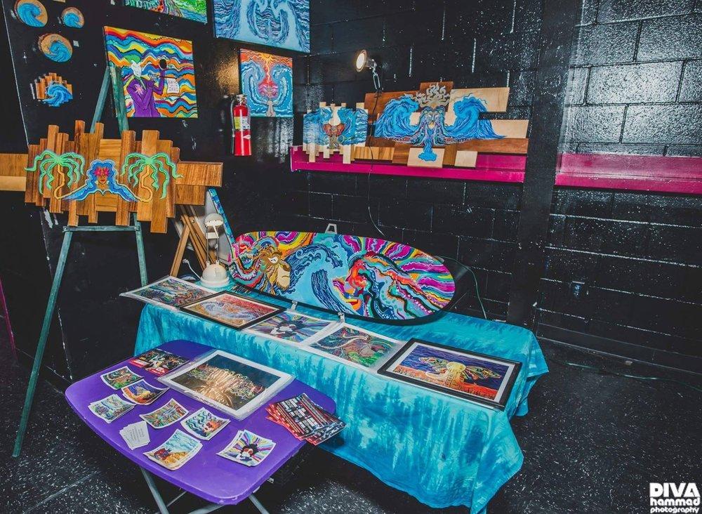 Champion King art display @ SPIN Nightclub for a Eden event  Photo Credit  Diva Hammad