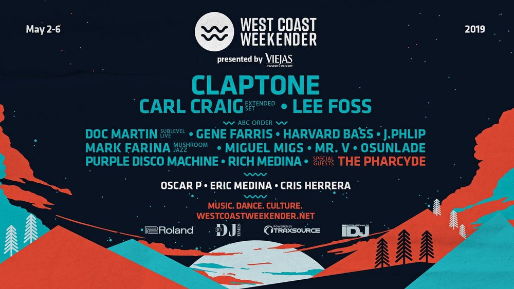 Click this event poster for tickets to this year's West Coast Weekender! Tickets are selling fast!
