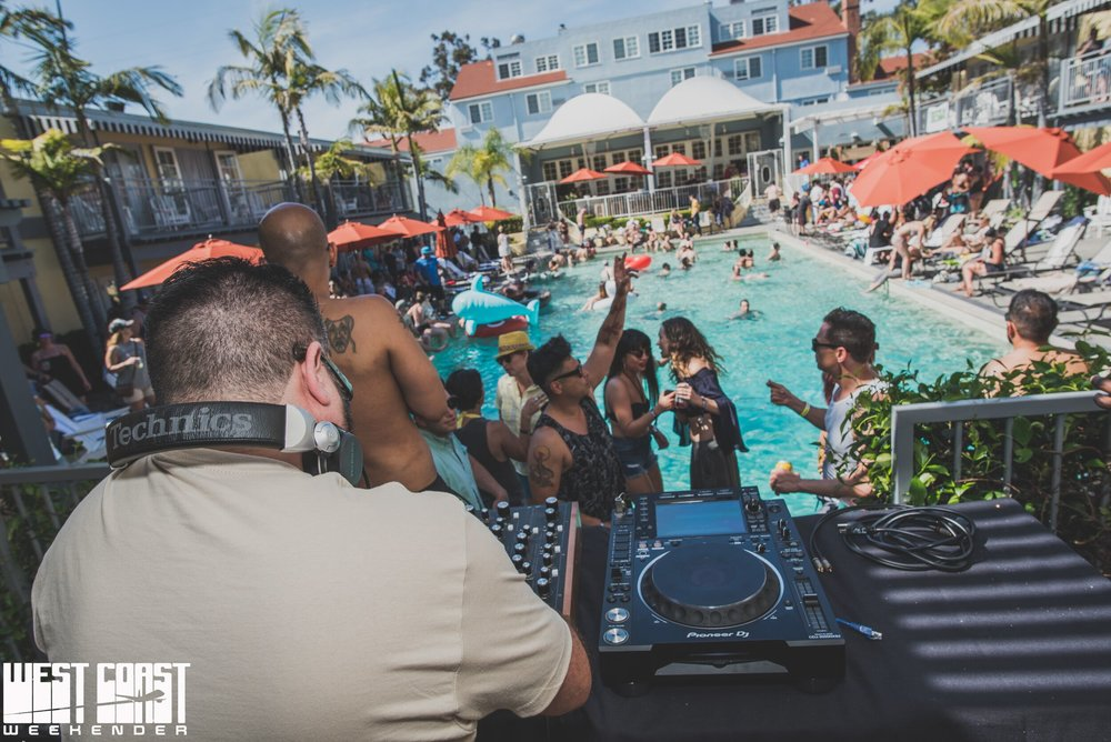 Pool Party at West Coast Weekender 2018    Photo Credit: Diva Hammad