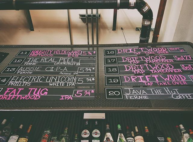 Pink ink on the taplist can only mean one thing! Tap Takeover starts now! Join us for an evening of tasty brews from @driftwoodbrewery, beer trivia and beer merch! We'll see ya'll there! 5PM-11PM⠀ ⠀ .⠀ .⠀ .⠀ .⠀ .⠀ .⠀ .⠀ .⠀ .⠀ #fhkt2018 #heritage #restoration #gastropub #cranbrook #cranbrookbc #downtowncranbrook #explorecranbrook #kootenays #kootenaylife #britishcolumbia #tapintothekootenays #eatlocal #history #microbrew #taphouse #bar #craftbeer #brick #firehall #patio #patioseason #beer #craftbeer #taptakeover #drinking #ipa #hops ⠀ ⠀