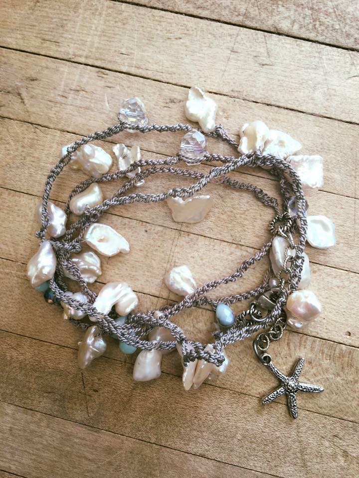 Bead Crochet: Learn how to make beautiful beaded jewelry using crochet stitches. Class is 1 1/2 hrs and is $25 plus materials.