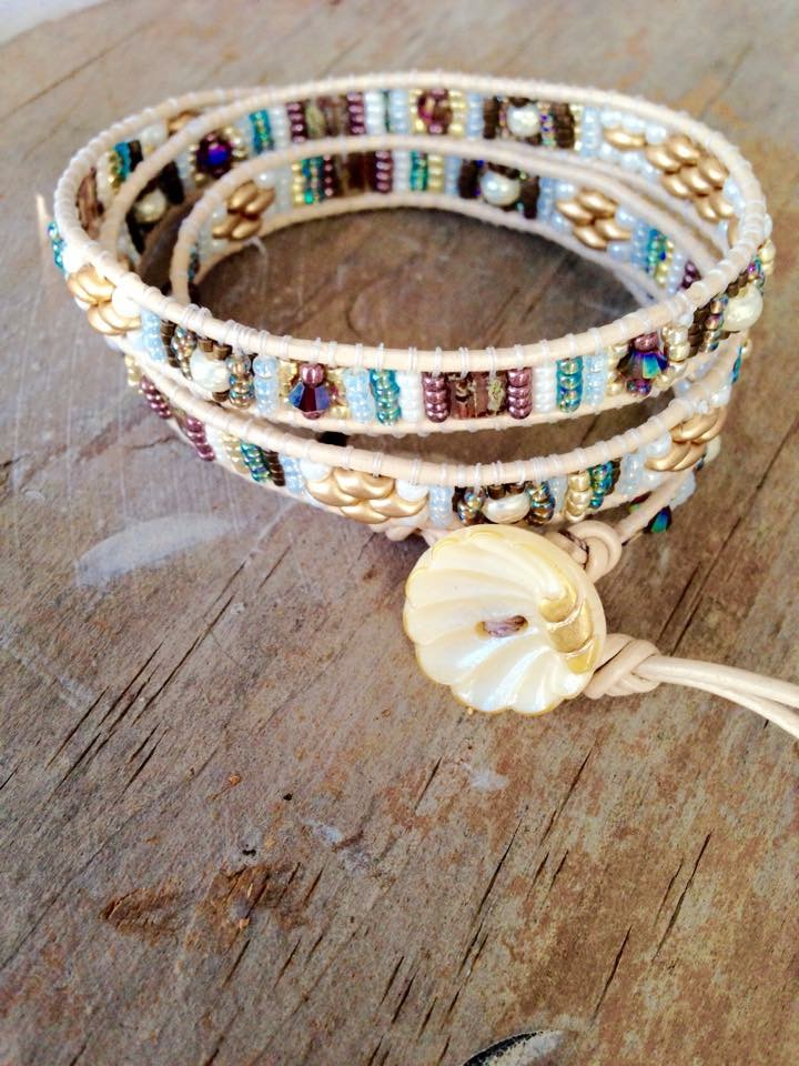 Skinny Cowgirl Cuff: One of our most popular classes. In this class you will make a cuff that wraps once, but can use the technique to make a cuff that is a multi wrap. $25 plus materials, 60 mins.