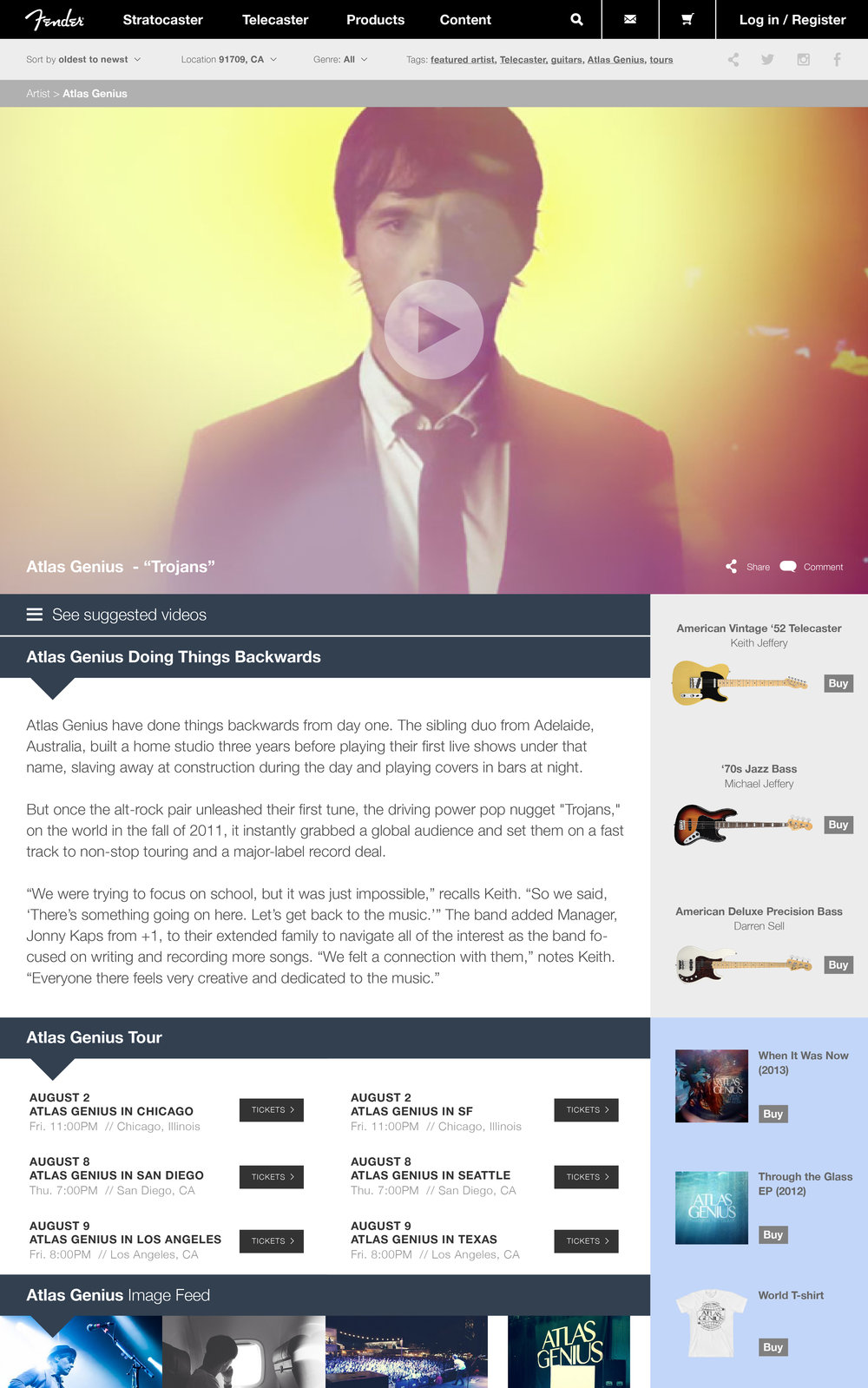 Artist - Content Page