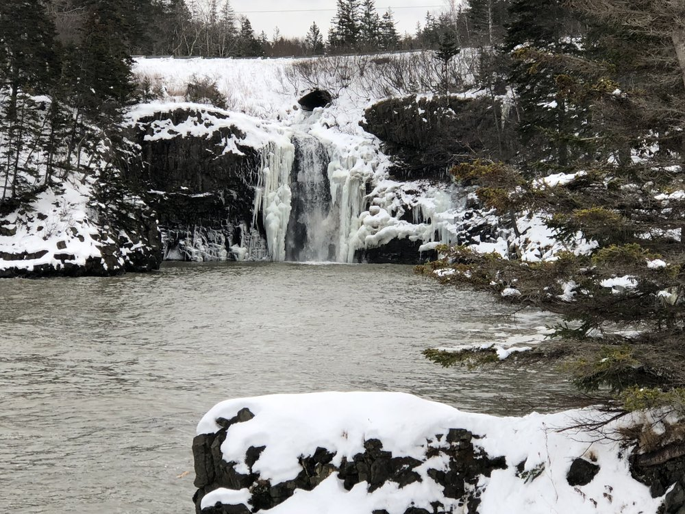 frozen falls at Baxter Harbour.JPG