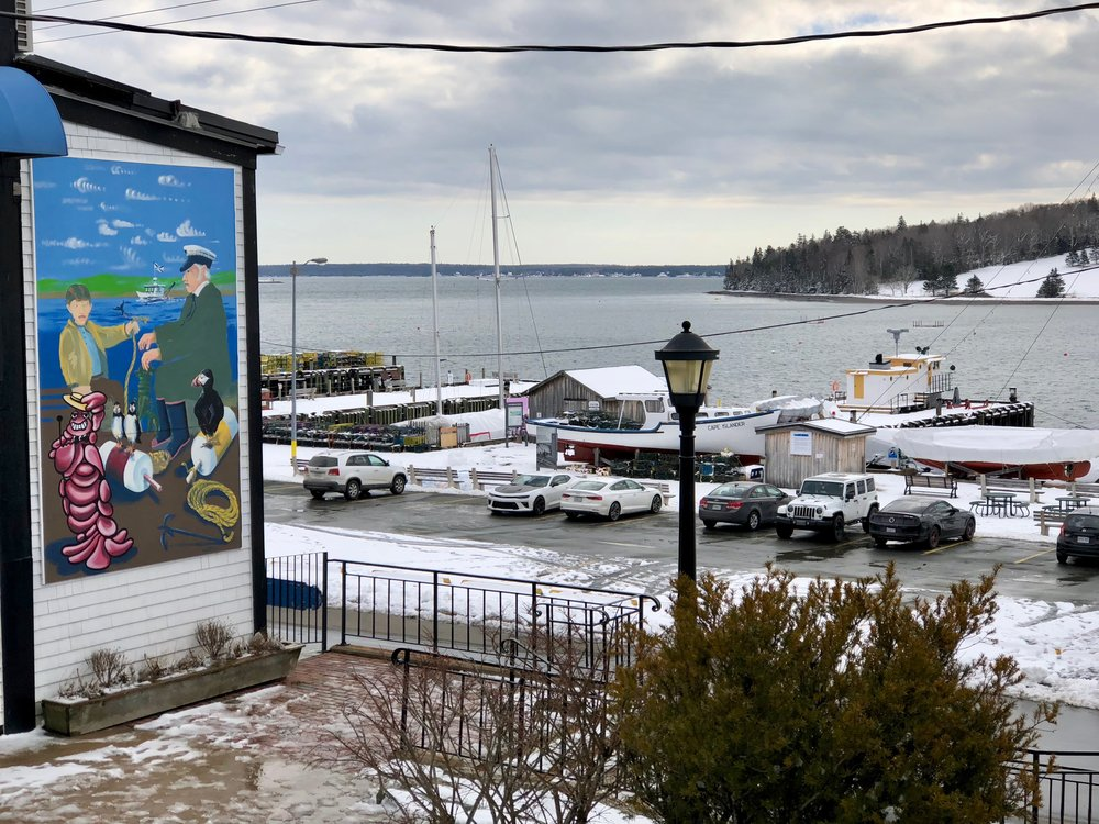 Harbor art at Lunenburg