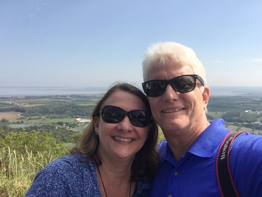 Don and Anita at the LookOff in the Annapolis Valley, Nova Scotia