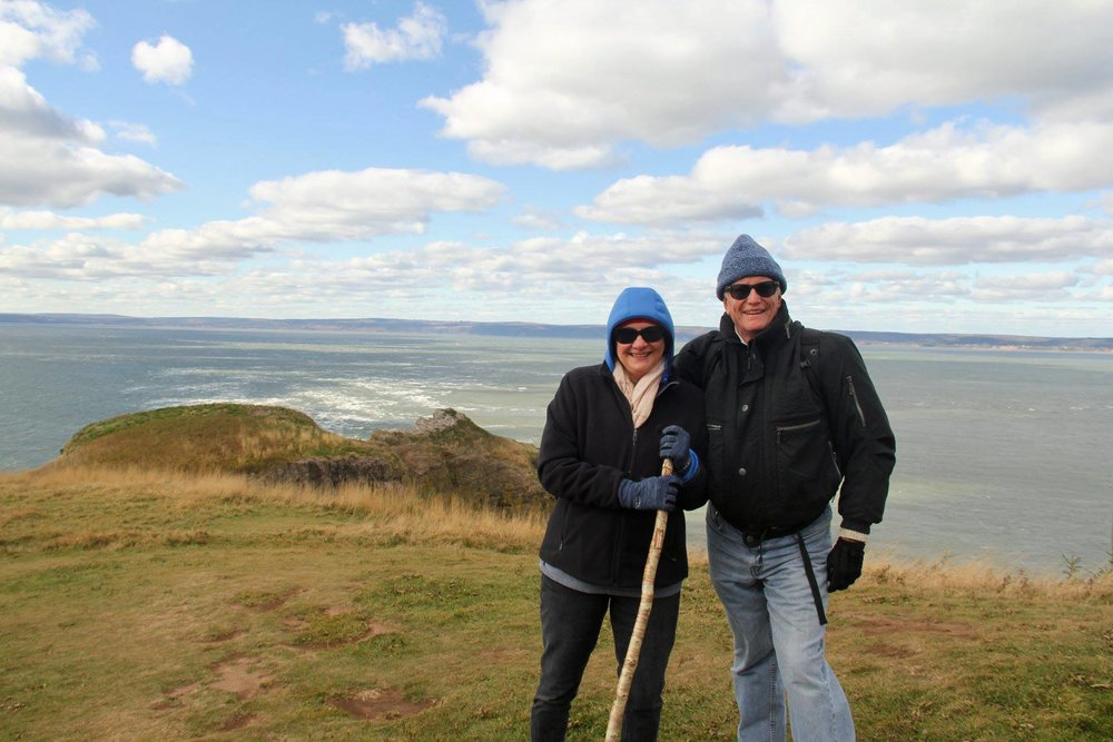 Overlooking the Bay of Fundy at Cape Split