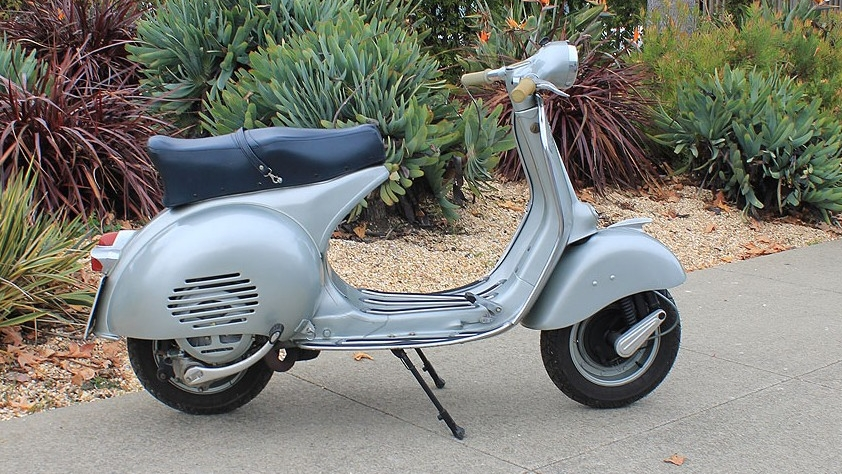 1957 VESPA GS VS3 (IC-116) - The G.S. 150 was arguably the most stylish scooter of all time. It ranks among the most desirable Vespas. The VS2 were never sold in the US, and they are extremely rare, even in Italy.