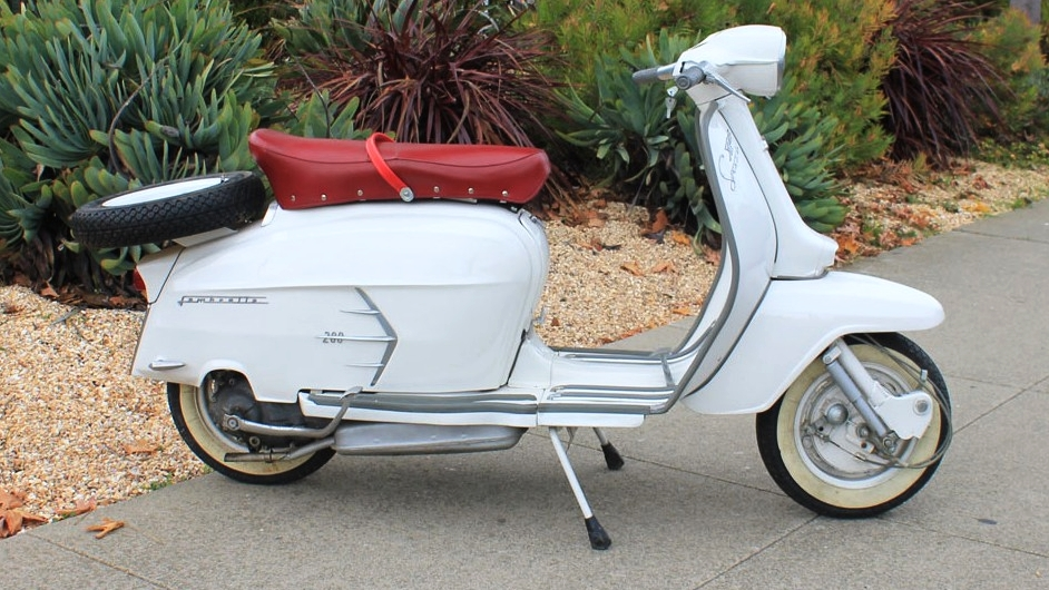 "1967 LAMBRETTA SX 200 (L-40) - The SX200 is one of the real ""blue chip"" of all the classic scooters. All of the 200cc Lambrettas rank up there, but due to its unique styling, the SX has to hold one of the top slots."