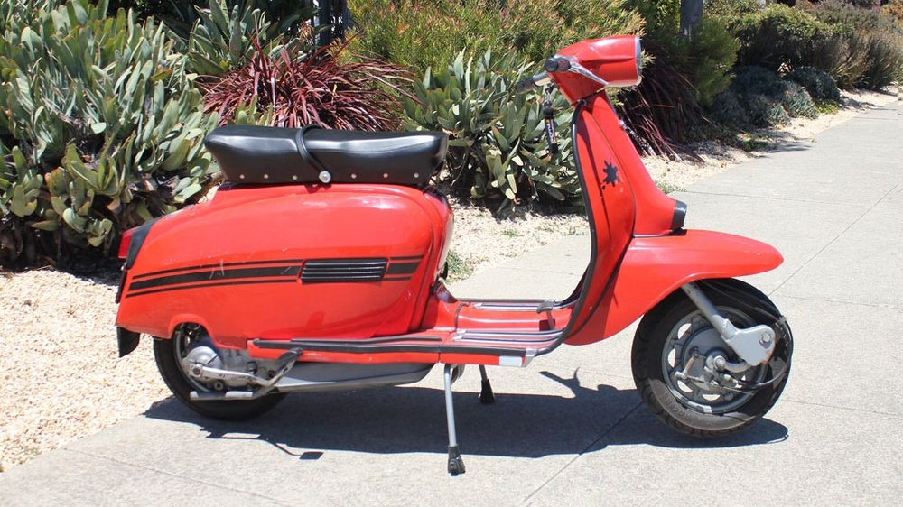 "1970 LAMBRETTA (L-37) - This scooter has been our shop ""test bed,"" and has benefited from a very long period of research into various performance components."