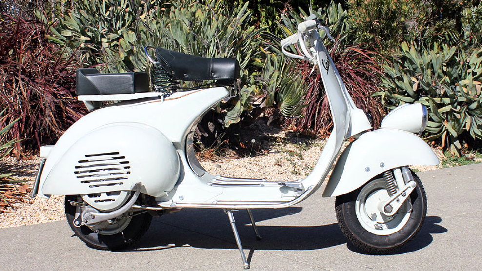 1957 VESPA FARO BASSO (IC-205) - There is nothing else like riding one of these wide-body Vespas; it has a feeling all its own. For those who really love to ride, the later years - like this one - are the ones to own