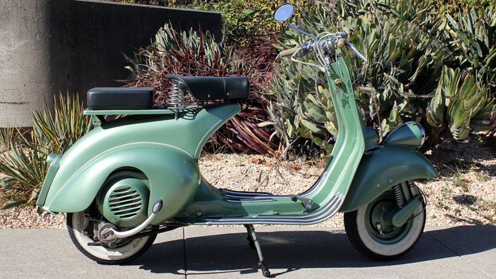 1951 VESPA FARO BASSO (IC-145) - These early 50's scooters were not originally sold in the US, and are getting very difficult to find even in Europe. This scooter was restored in Italy before we acquired it, and looks extremely nice.