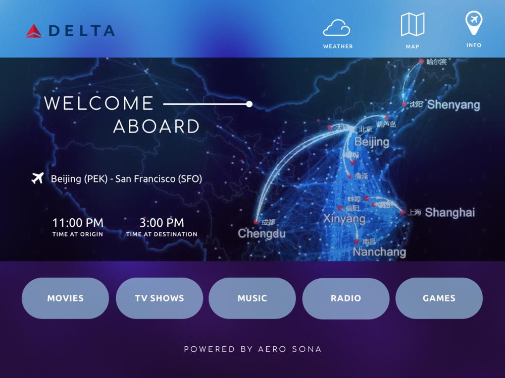 In-Flight Home Screen