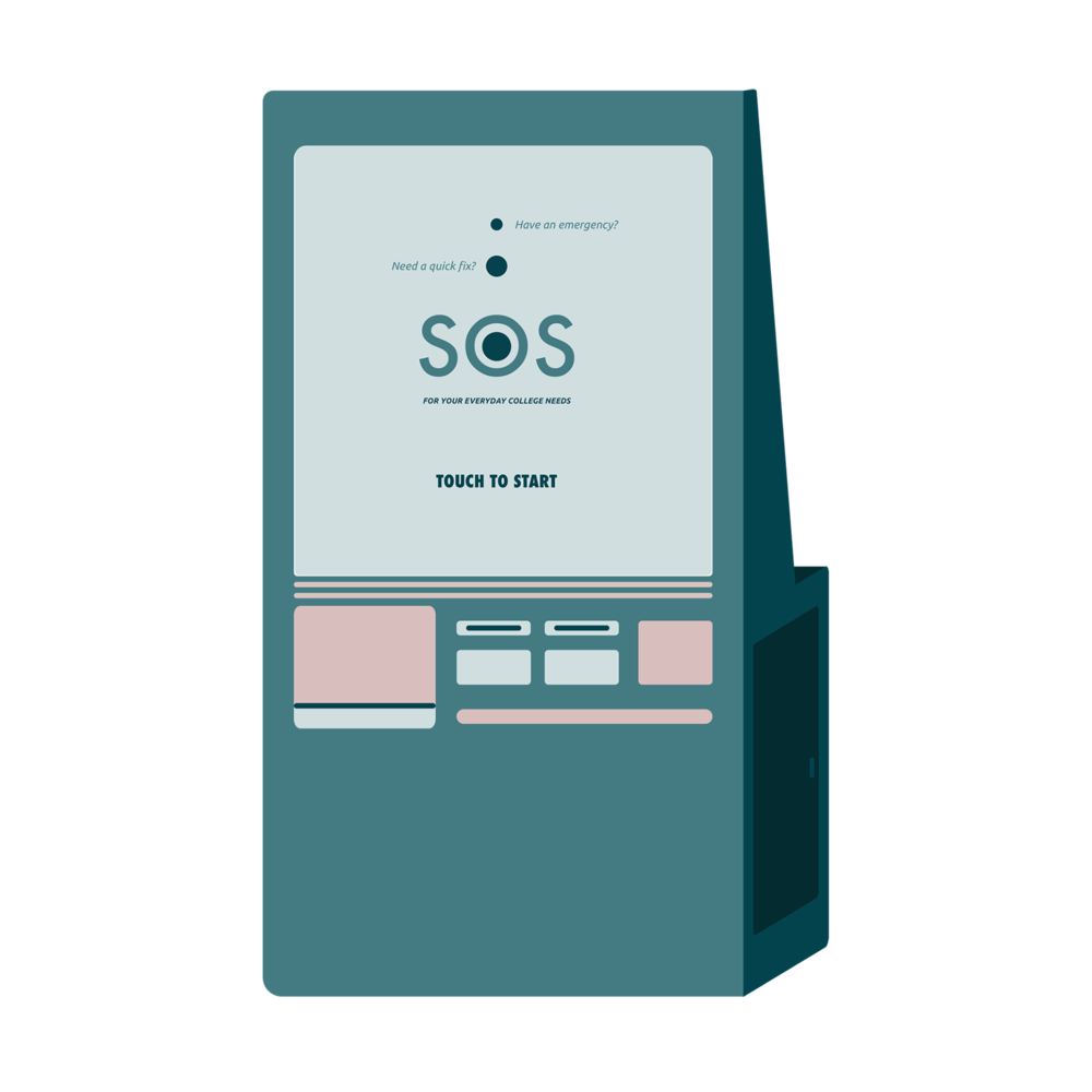 S.O.S. - A vending machine for the everyday needs of college students.