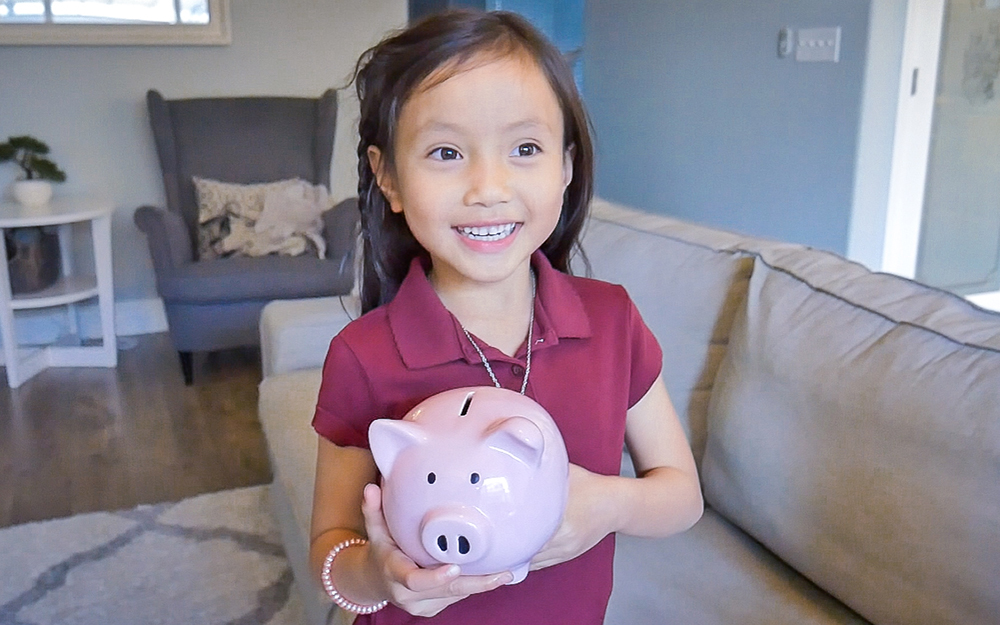 Rachel, 6 Years Old - She recently started getting an allowance for school. She also likes buying new toys.
