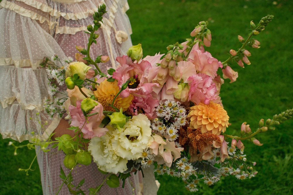 Summer bridal bouquet from our gardens--Brownington, Vermont