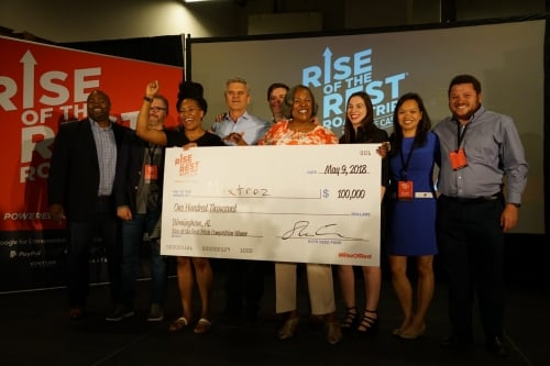 Winner ROTR 7.0 -Birmingham - Mixtroz Co-Founders w/ Aol Founder Steve Case & the Revolution Team May 9, 2018.