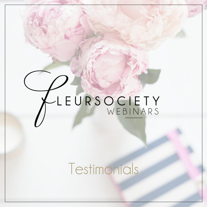 Fleursociety Testimonials Webinar