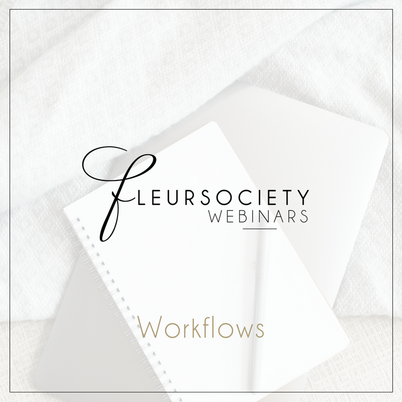 Fleursociety Workflows Webinar